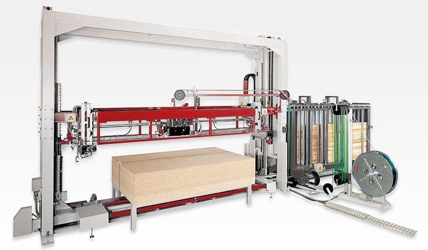 ahsap, mdf sektörüne özel full otomatik çemberleme makinası