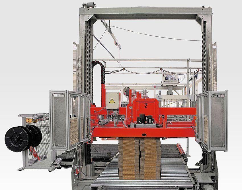 endüstriyel çemberleme oluklu mukavva çember makinası